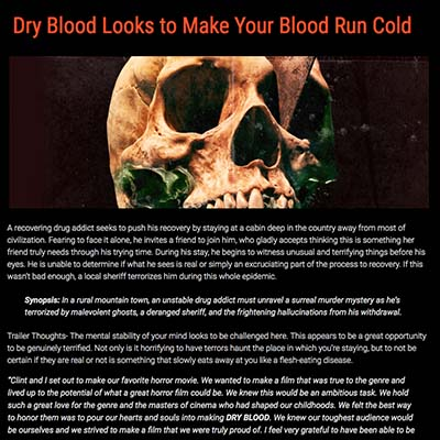 Dry Blood Looks to Make Your Blood Run Cold