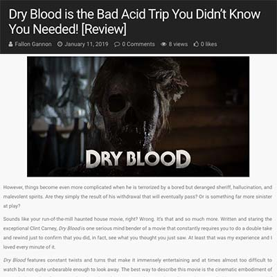 Dry Blood is the Bad Acid Trip You Didn't Know You Needed! [Review]