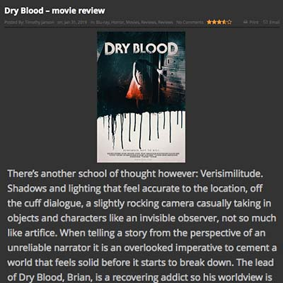 Dry Blood – movie review