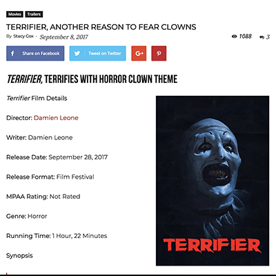 ERRIFIER, ANOTHER REASON TO FEAR CLOWNS