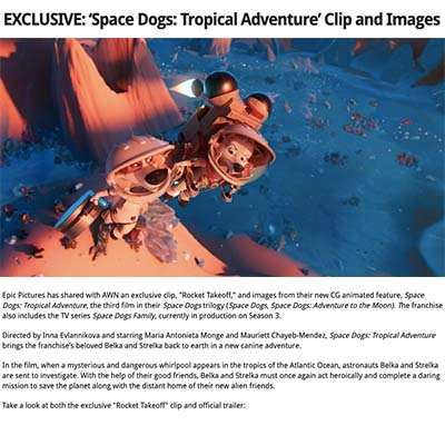 EXCLUSIVE: 'Space Dogs: Tropical Adventure' Clip and Images