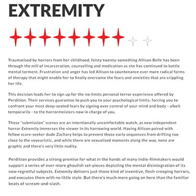 EXTREMITY REVIEW