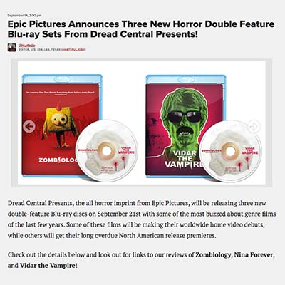 Epic Pictures Announces Three New Horror Double Feature Blu-ray Sets From Dread Central Presents!
