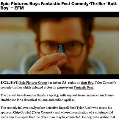 Epic Pictures Buys Fantastic Fest Comedy-Thriller 'Butt Boy' – EFM