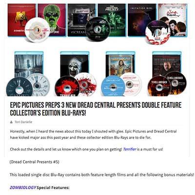 Epic Pictures Preps 3 New Dread Central Presents Double Feature Collector's Edition Blu-Rays!