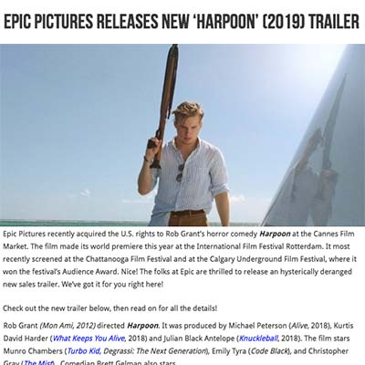 Epic Pictures Releases New 'Harpoon' (2019) Trailer