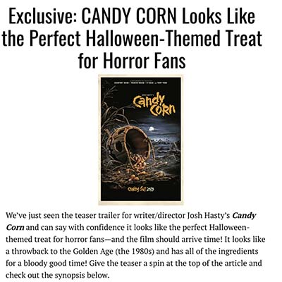Exclusive: CANDY CORN Looks Like the Perfect Halloween-Themed Treat for Horror Fans