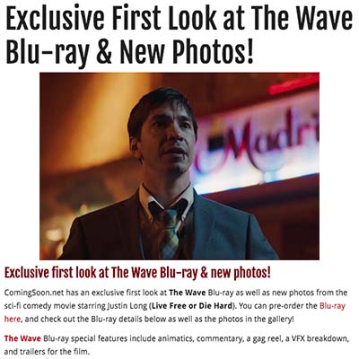 Exclusive First Look at The Wave Blu-ray & New Photos!