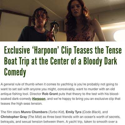 Exclusive 'Harpoon' Clip Teases the Tense Boat Trip at the Center of a Bloody Dark Comedy