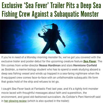 Exclusive 'Sea Fever' Trailer Pits a Deep Sea Fishing Crew Against a Subaquatic Monster