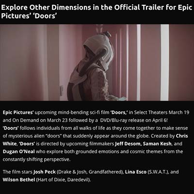 Explore Other Dimensions in the Official Trailer for Epic Pictures' 'Doors'