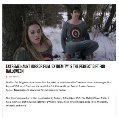 Extreme Haunt Horror Film 'Extremity' is The Perfect Gift For Halloween!