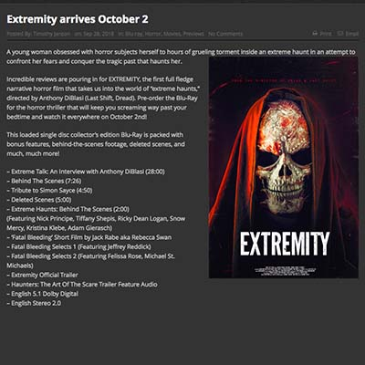 Extremity arrives October 2
