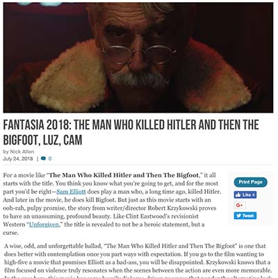 FANTASIA 2018: THE MAN WHO KILLED HITLER AND THEN THE BIGFOOT, LUZ, CAM