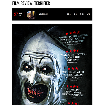 FILM REVIEW: TERRIFIER