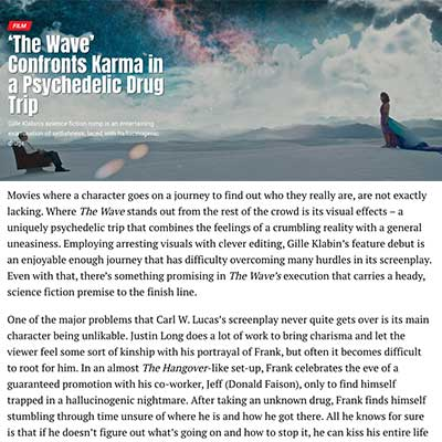 FILM'The Wave' Confronts Karma in a Psychedelic Drug Trip
