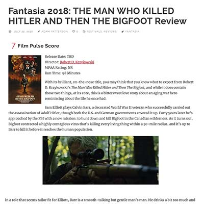 Fantasia 2018: THE MAN WHO KILLED HITLER AND THEN THE BIGFOOT Review
