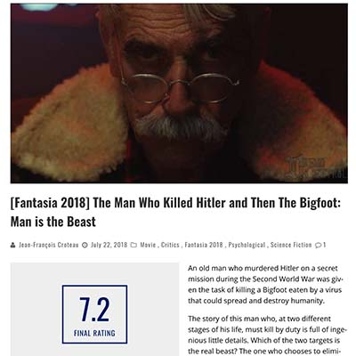 [Fantasia 2018] The Man Who Killed Hitler and Then The Bigfoot: Man is the Beast