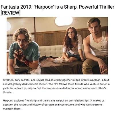 Fantasia 2019: 'Harpoon' is a Sharp, Powerful Thriller [REVIEW]