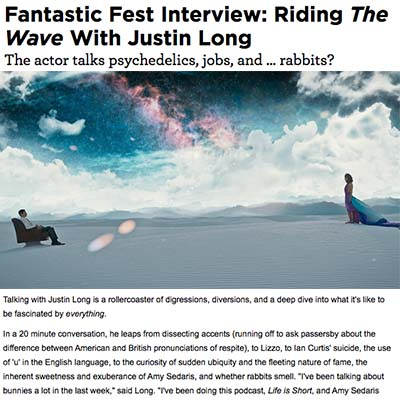 Fantastic Fest Interview: Riding The Wave With Justin Long
