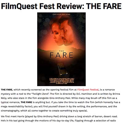 FilmQuest Fest Review: THE FARE