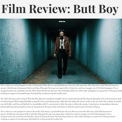 Film Review: Butt Boy