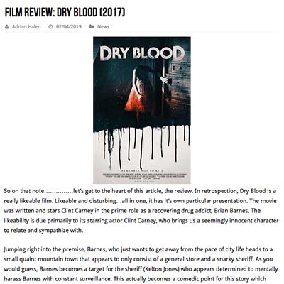 Film Review: Dry Blood (2017)