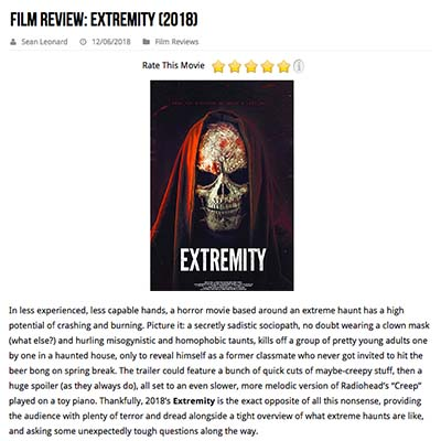 Film Review: Extremity (2018)