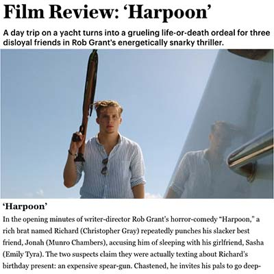 Film Review: 'Harpoon'