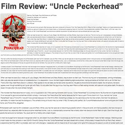 "Film Review: ""Uncle Peckerhead"""