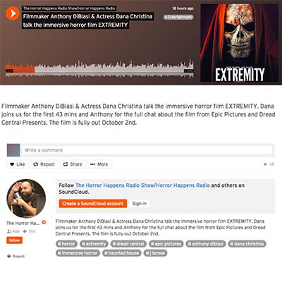 Filmmaker Anthony DiBlasi & Actress Dana Christina talk the immersive horror film EXTREMITY