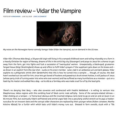 Film review – Vidar the Vampire