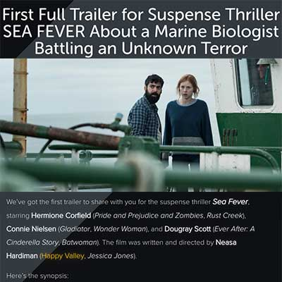 First Full Trailer for Suspense Thriller SEA FEVER About a Marine Biologist Battling an Unknown Terror