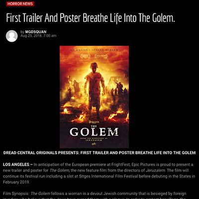 First Trailer And Poster Breathe Life Into The Golem.