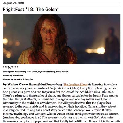 FrightFest '18: The Golem