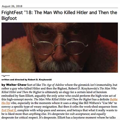 FrightFest '18: The Man Who Killed Hitler and Then the Bigfoot