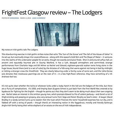 FrightFest Glasgow review – The Lodgers