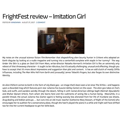 FrightFest review – Imitation Girl