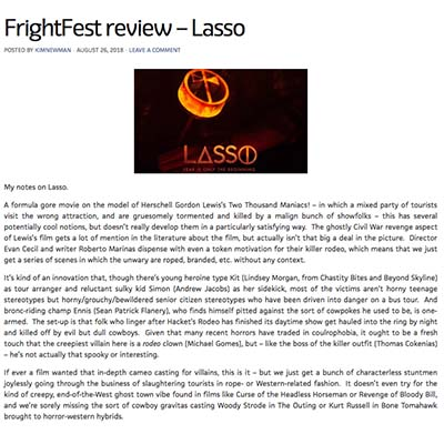 FrightFest review – Lasso