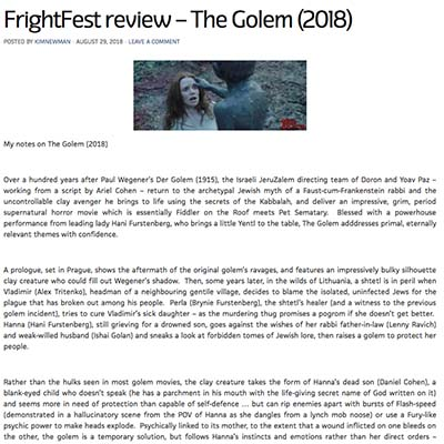 FrightFest review – The Golem (2018)