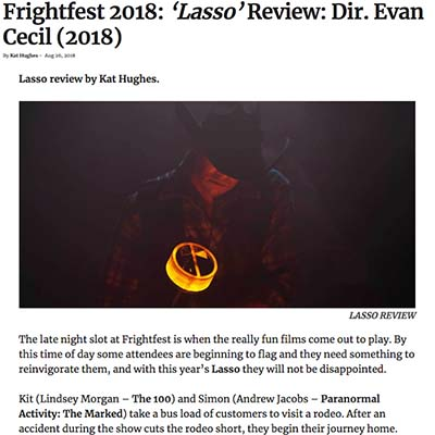 Frightfest 2018: 'Lasso' Review: Dir. Evan Cecil (2018)