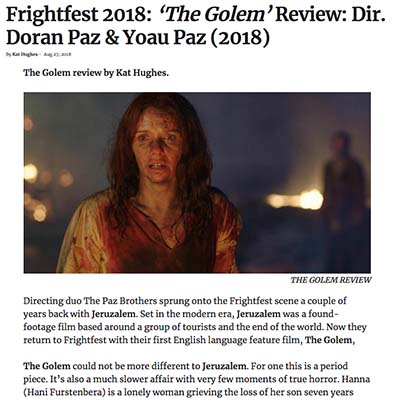 Frightfest 2018: 'The Golem' Review: Dir. Doran Paz & Yoau Paz (2018)