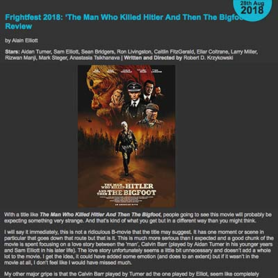 Frightfest 2018: 'The Man Who Killed Hitler And Then The Bigfoot' Review