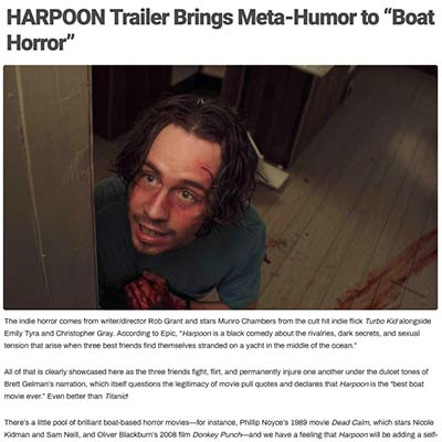 "HARPOON Trailer Brings Meta-Humor to ""Boat Horror"""
