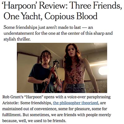 'Harpoon' Review: Three Friends, One Yacht, Copious Blood
