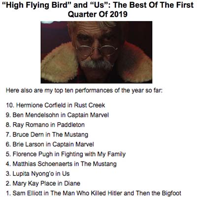 """High Flying Bird"" and ""Us"": The Best Of The First Quarter Of 2019"