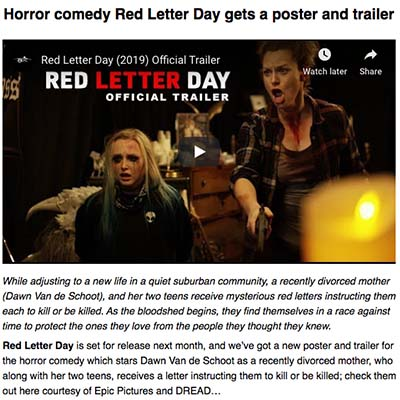 Horror comedy Red Letter Day gets a poster and trailer