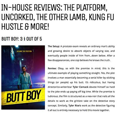 IN-HOUSE REVIEWS: THE PLATFORM, UNCORKED, THE OTHER LAMB, KUNG FU HUSTLE & MORE!