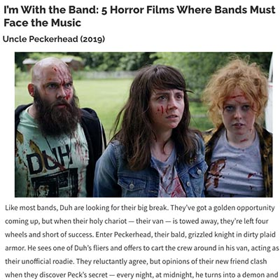I'm With the Band: 5 Horror Films Where Bands Must Face the Music