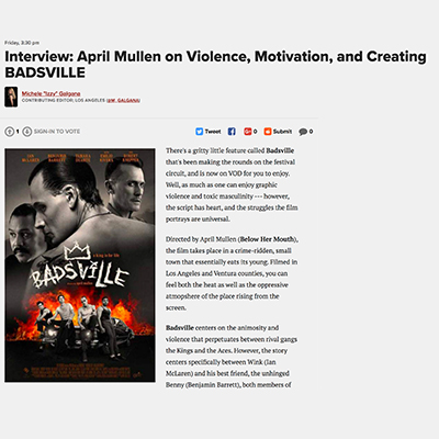 Interview: April Mullen on Violence, Motivation, and Creating BADSVILLE
